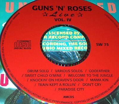 Guns N' Roses Live Vol  4 CD Rare Sweet Child O'Mine Welcome