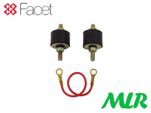 Facet Pompe À Carburant Kit de montage supports caoutchouc isolateurs /& Earth Strap Fi