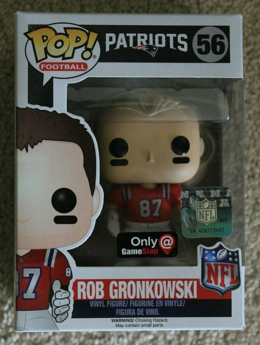 FUNKO NFL NEW ENGLAND PATRIOTS ROB GRONKOWSKI GRONKOWSKI GRONKOWSKI GAMESTOP POP VINYL FIGURE 56 b6ab1b