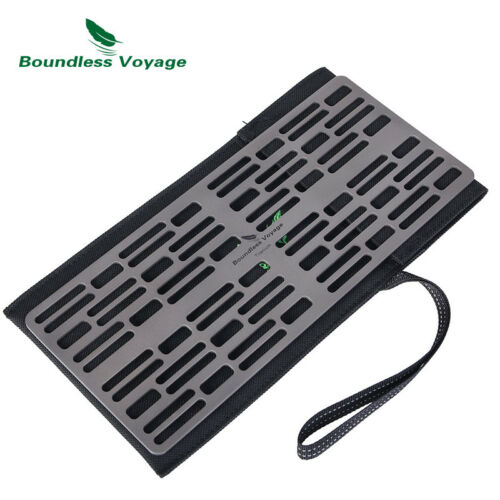 Outdoor Titanium Charcoal BBQ Grill Plate Barbecue Net Garden Camping Picnic