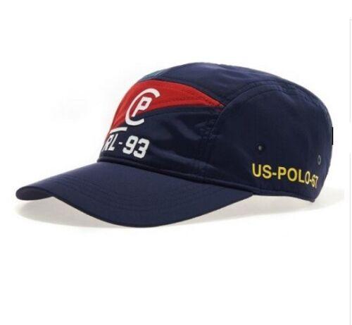 POLO CP-93 Homme Cap 5 Panel Navy//Red Ralph Lauren accessoires vestimentaires /_ RMGA
