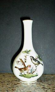 Vintage-Herend-Hungary-Porcelain-Rothschild-Bird-Miniature-Vase-Handpainted