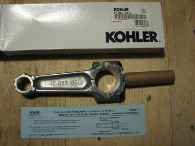 Genuine OEM Kohler ROD CONNECTING ASSEMBLY part# 17 067 09-S