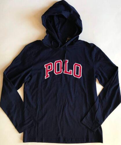 maniche Polo con uomo lunghe cappuccio Ralph polo lunga manica cotone a Felpa Lauren cappuccio in con da wOC0tt