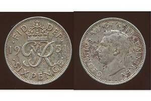 United Kingdom 1951 6d Sixpence CuproNickel Coin GR Crowned - Dukinfield, United Kingdom - United Kingdom 1951 6d Sixpence CuproNickel Coin GR Crowned - Dukinfield, United Kingdom