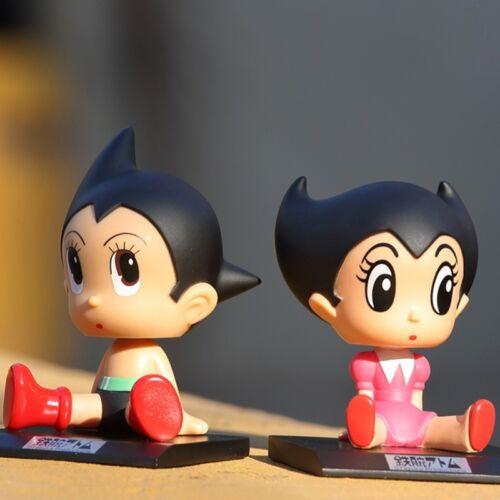 Astro Boy n Sister Uran Bobblehead Cartoon Dolls Classic Car Decorations Figure