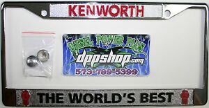 image is loading kenworth kw worlds best license plate frame tag