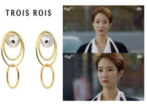 TROIS ROIS LE Hardi Earring TK0467 KO JUNHEE Korea DRAMA