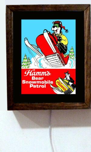 Hamms Beer Hamm/'s Snowmobile Snowmobiling Bear Retro Vintage Light Lighted Sign