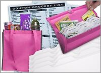 Grocery Gift Set With Coupon Organizer On Pink