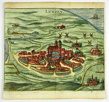 LUNDEN  DEUTSCHLAND KOL KUPFERSTICH ANSICHT ZEILLER MERIAN 1656 AD #D863S