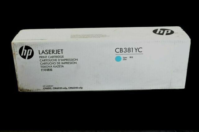NEW GENUINE HP 824A CB381A CYAN TONER CARTRIDGE CP6015 CM6030 CM6040 OEM