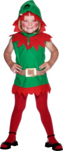 Boys Girls Kids Toddler Christmas Elf Santa Fancy Dress Costume Outfit 3-4 years