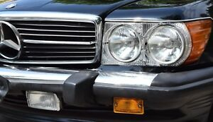 Mercedes-R107-Umruest-Scheinwerfer-komplettes-Set-US-auf-EU-Umbau-SL-SLC-W107