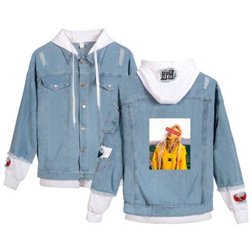 New Billie Eilish Men Women Leisure Demin Jacket Hoodie Coat Long Sleeve Outwear