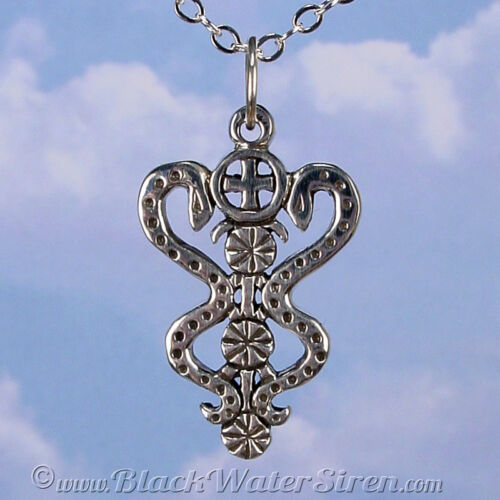 VOODOO DAMBALLAH Veve Charm Pendant STERLING Silver 925 Lwa Vodou