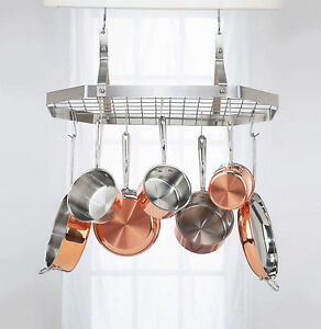 Image Is Loading Cuisinart Octagonal Hanging Kitchen Cookware Hanger Pot  Pan