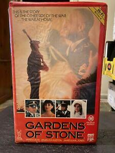 Gardens-of-Stone-Ex-rental-VHS-video-tape-HTF-on-DVD-Retro-CBS-FOX-Clamshell-War