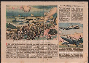 WWII-D-Day-Jour-J-Invasion-of-Normandy-Bataille-de-Normandie-1946-ILLUSTRATION