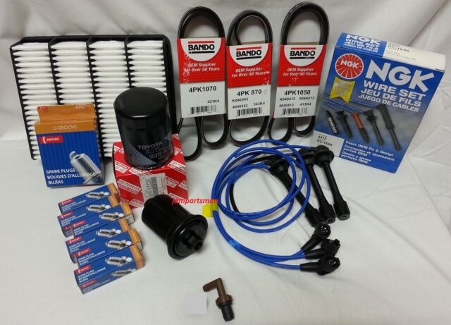 ***NGK Wire Set-Plugs-Coil Boots-Belts-Air-Fuel-Oil-Kit 96-02 Toyota V6 3.4L