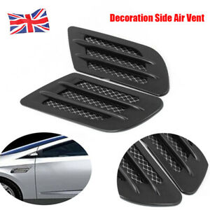 1 Pair Black Car Bonnet Air Flow Intake Side Fender Vent