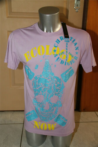 T-shirt ecologia now rosa ED HARDY audigier T L NUOVO CON ETICHE