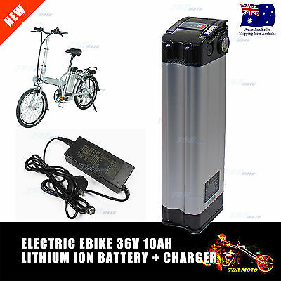 New Electric Bike Bicycle EBIKE 36v 10AH lithium ion fish BATTERY With Charger