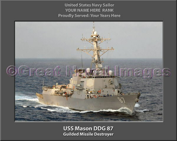 USS Mason DDG 87 Personalized Personalized Personalized Canvas Ship Photo 2 Print Navy Veteran Gift 77ead9