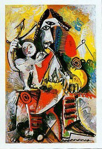 PICASSO MUSKETEER AND CUPID FINE ART PRINT POSTER 24x32-615