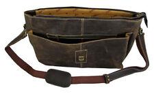Crazy Horse Leather Men's Designer Shoulder Messenger Bag. Unique Design & Look!