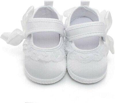 Taufschuhe Mädchen Babyschuhe Taufe Neugeborene Krabbelschuhe Taufe  Weiß Satin