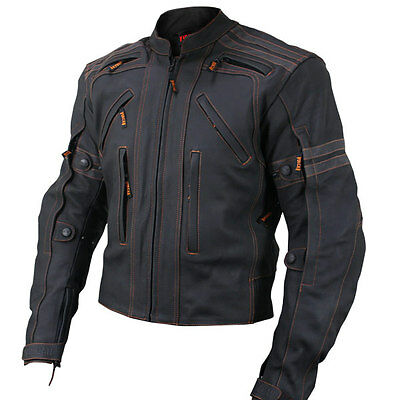 Vulcan CE approved Armored Street motorcycle Jacket W/underarm zip vent VTZ-910