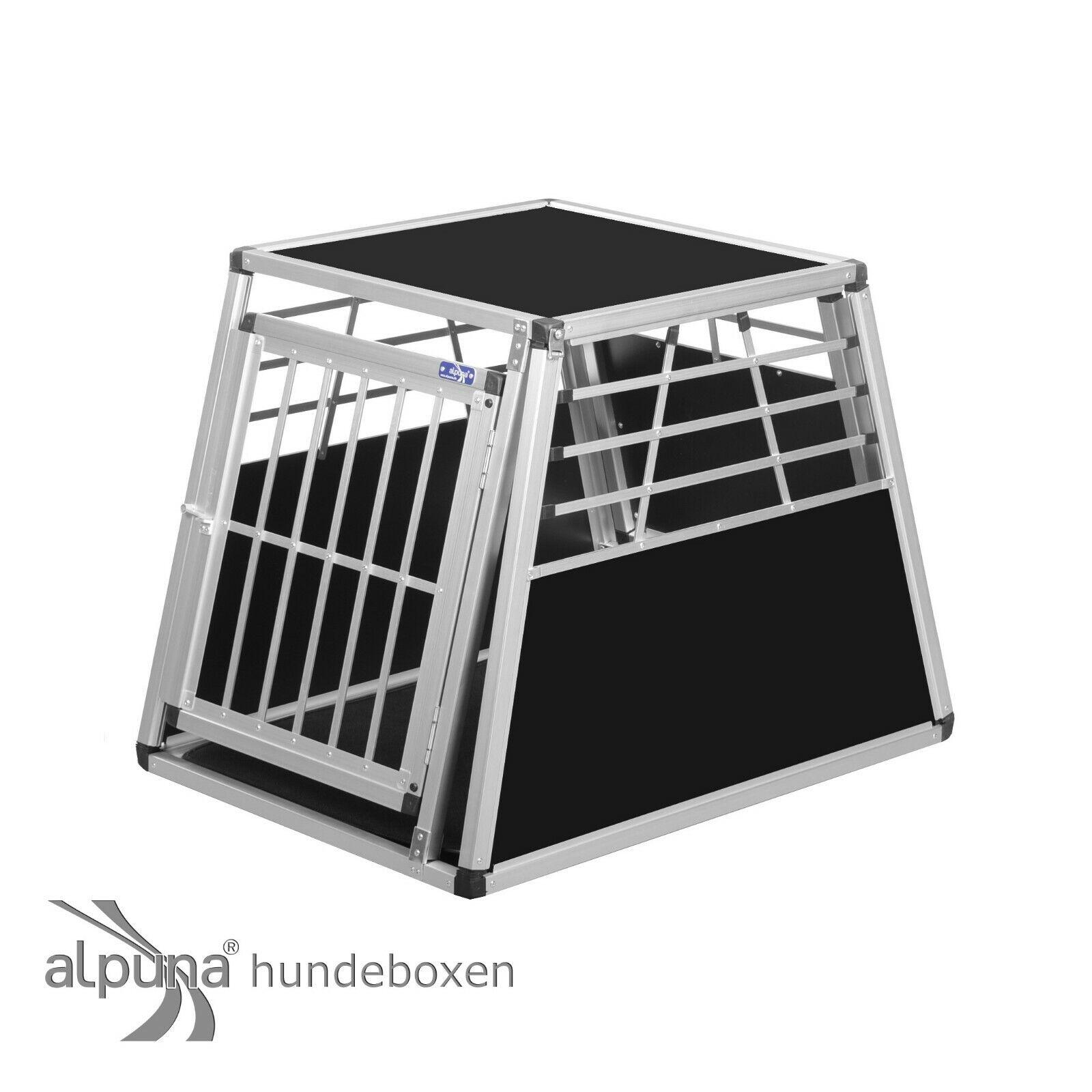 N1 Hundetransportbox Gitterbox Aluminium Transportbox Hundebox Alubox Autobox