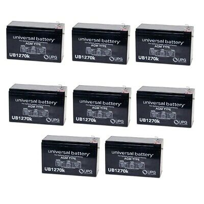 8 Pack Brand Product Mighty Max Battery 12V 7Ah Battery Replacement for Sonnenschein A212//6.0S