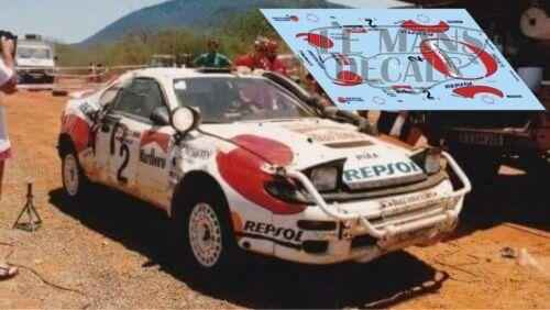 Calcas Toyota Celica ST185 Rally Kenya 1992 1:43 32 24 18 Sainz Schwarz decals