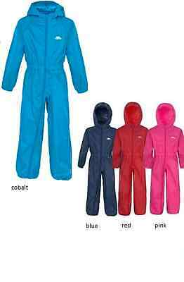 Trespass Breathable Windproof Waterproof Kids All In One Suit Button Rainsuit N