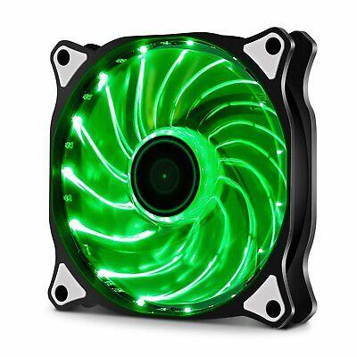 2x 120mm GREEN Vetroo Computer PC Case Cooler LED CPU Radiators Cooling Fan
