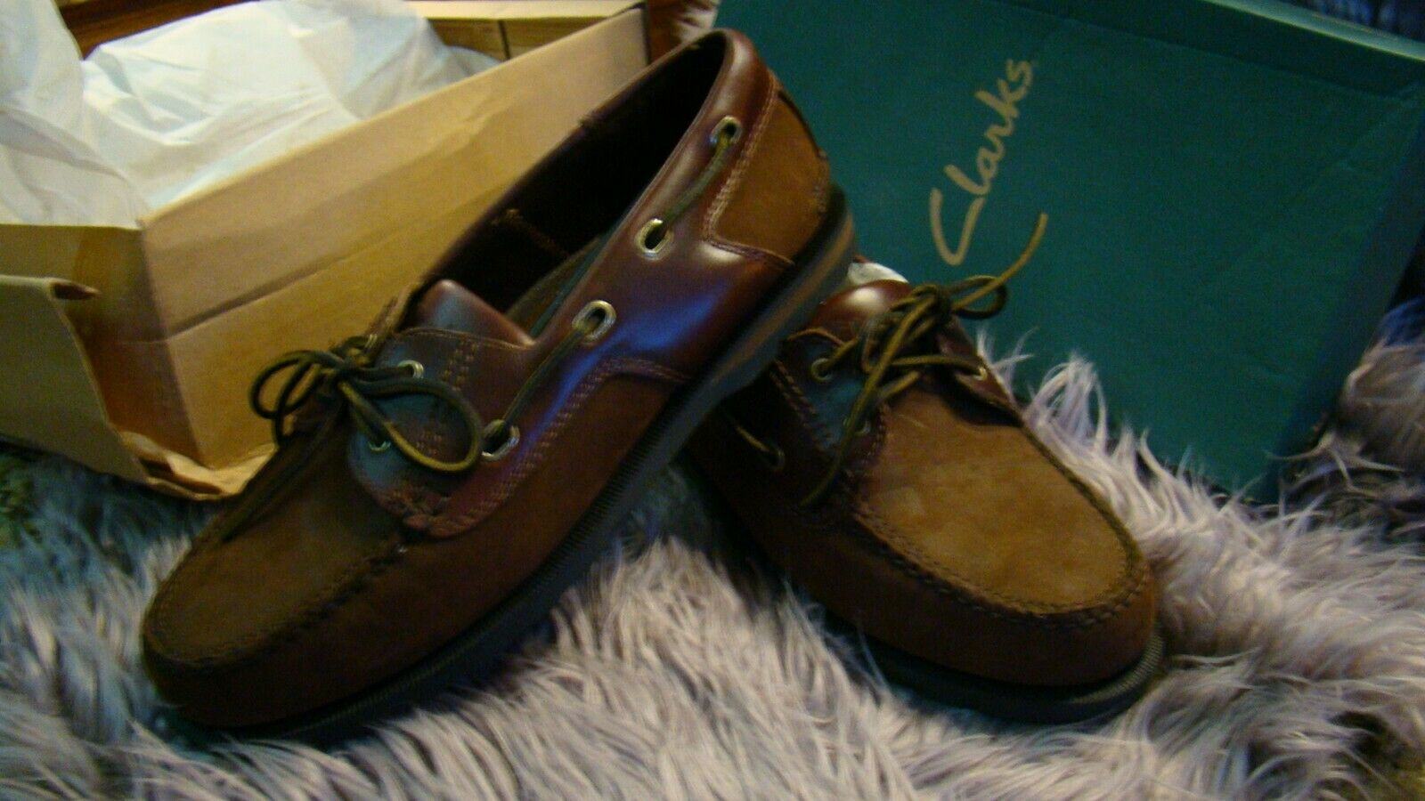 Brown Boat Shoes Nubuck Leather Size