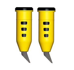 1 Paar mit Heißkleber DÄMPFERSPITZEN HARTMETALL SKIROLLER ROLLSKI SPITZE 10 mm
