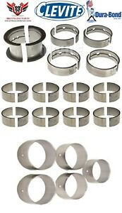 CLEVITE-DURABOND-CHEVY-SBC-283-327-ROD-AND-MAIN-BEARINGS-WITH-CAM-BEARING-64-67
