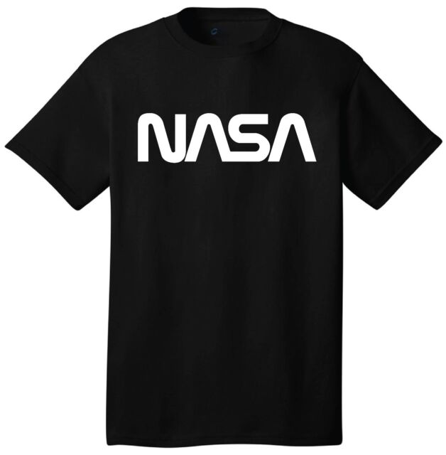 Nasa Logo T-Shirt Short Sleeve Outer Space Astronaut Retro 60's 70's 80's  Style