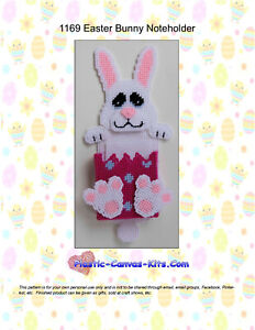 Plastic Canvas Pattern or Kit-Great for Easter Bunny Rabbit Treat Holder