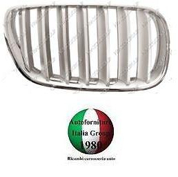 GRIGLIA RADIATORE DX CROMATA//TITANIO MASCHERA BMW X3 E83 07/>10 DAL 2007 AL 2010