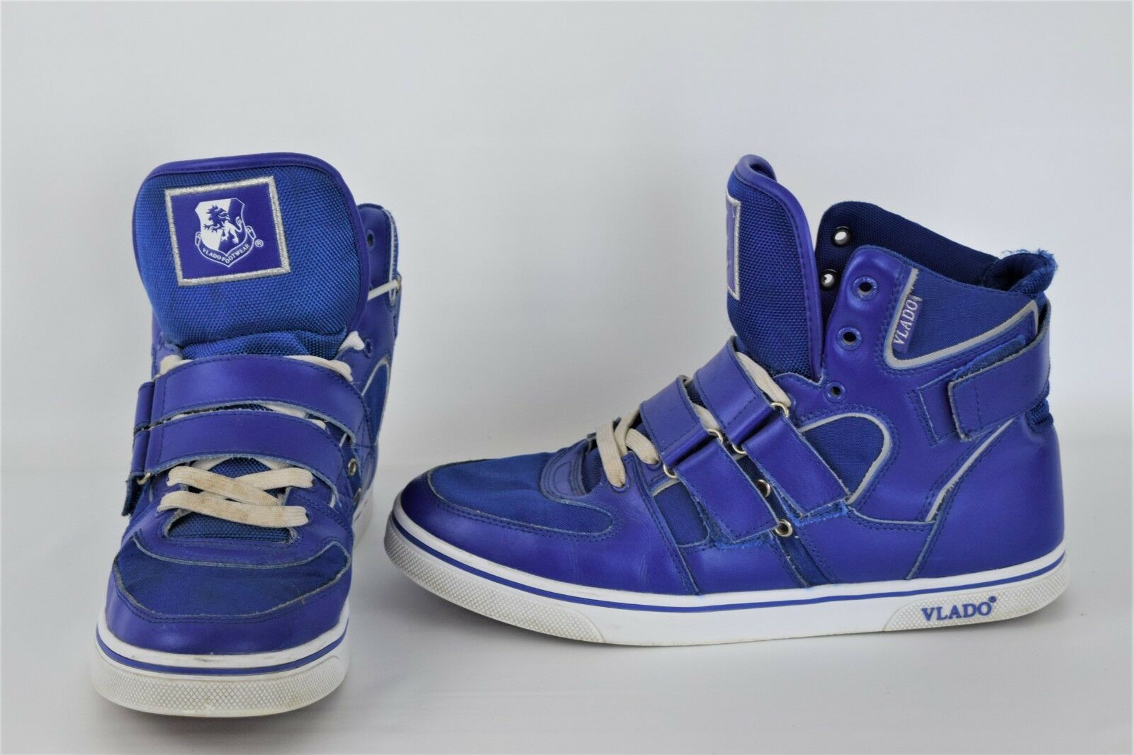 Vlado Knight 2 bluee Leather Lace-Up Hi-Top Athletic Sneakers Men's U.S. 10.5