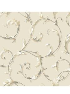 Acanthus-Scroll-on-Beige-on-Sure-Strip-Wallpaper-AB1962