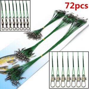 15-23-30cm-Lure-Coated-Trace-Fish-Wire-Leader-Spinner-Pike-Sea-Fishing