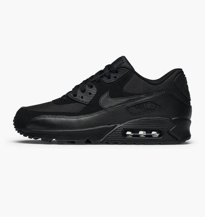 Nike Air Max 90 Essential All Triple Black on Black 537384 090 Size 8-14