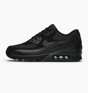 af45903b995f9 Details about Nike Air Max 90 Essential All Triple Black on Black 537384  090 Size 8-14