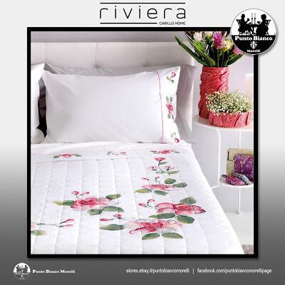 Affidabile Riviera | Rose Trapunta Primavera Autunno Dipinta - Painted Quilted Bedspread Facile Da Lubrificare