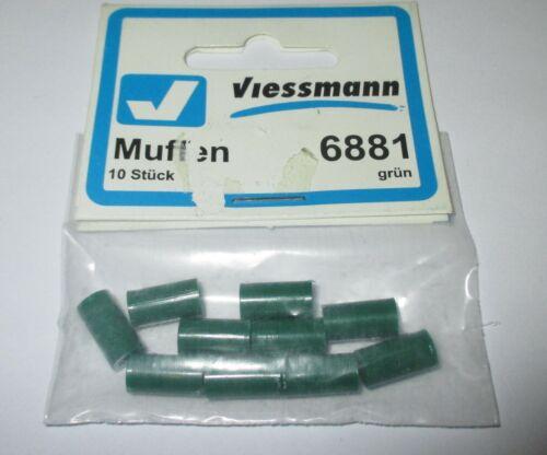 Viessmann 6881 Muffen rund grün 10 Stück Stck 24,9 ct NEU